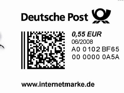 deutsche post online marke